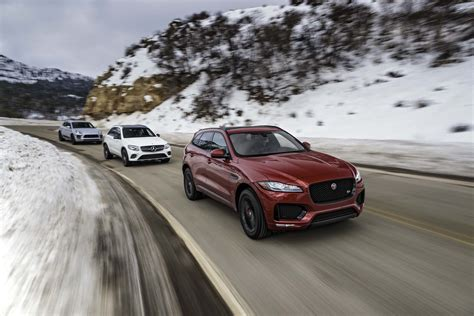 2017 jaguar f pace s vs 2017 mercedes amg glc43 vs 2017