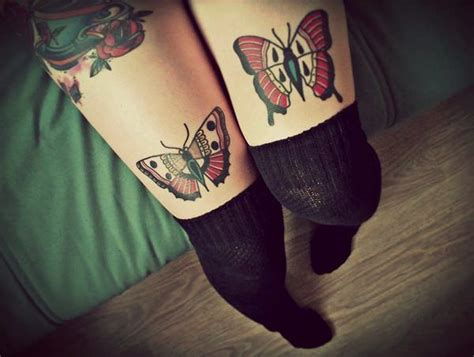 above knee tattoo 90 butterfly tattoos helping you undergo changes in your
