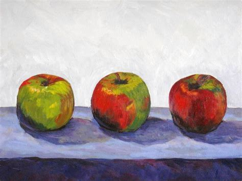 acrylic painting apple 3 apples acrylic painting year 9 or 10 acquisitions