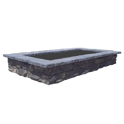 107 in fossill limestone rectangular concrete planter