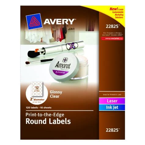 Avery 1 Inch Labels Template by Avery Print To The Edge Labels Glossy Clear 2