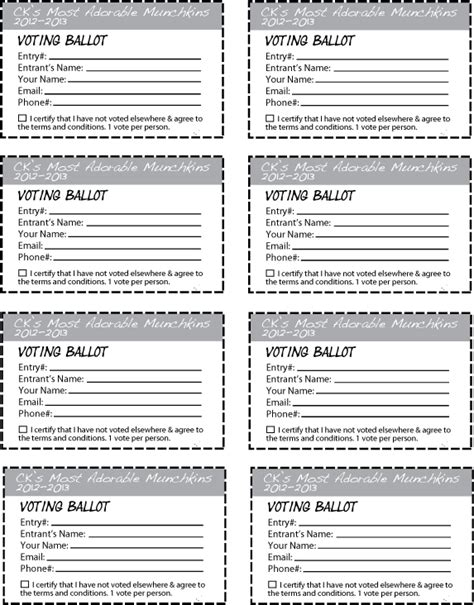 Contest Entry Form Template Word Contest Ballot Template Dtk Templates Entry Ballot Template