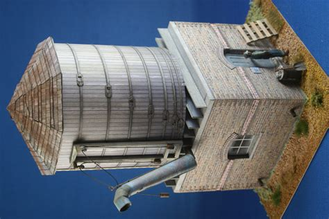 How To Make A Water Tower With Paper - clever models paper models for the 21st century models