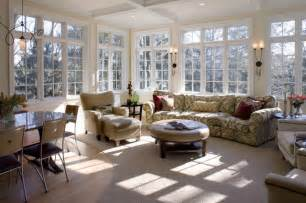 Informal dining room and sunroom traditional living room