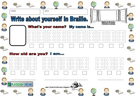 Braille Worksheets Printables by Fly Me To The Broom Braille Resources