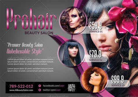 free salon flyer templates hair salon flyer templates i on salon flyer