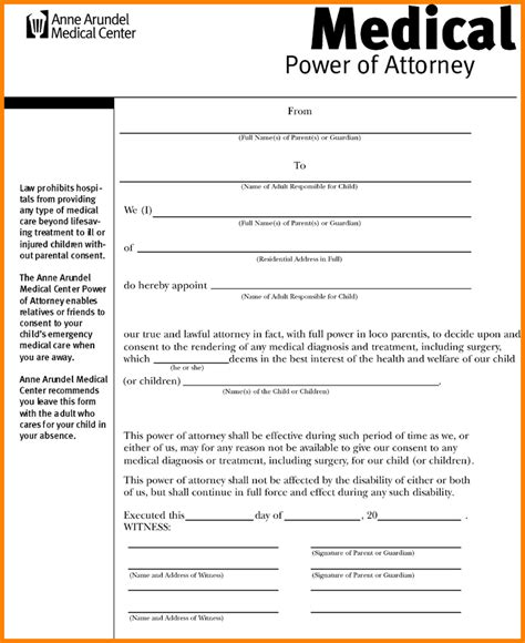 8 form medical power of attorney attorney letterheads