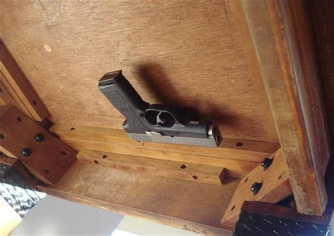 Headboard Gun Holster by Mounting Pistol Underneath A Desk Eta Pic Added Of