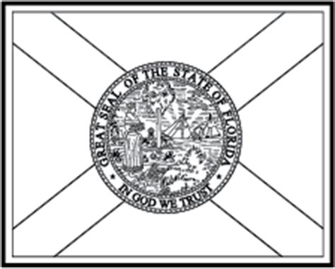 State Flag Coloring Pages Florida Flag Coloring Page