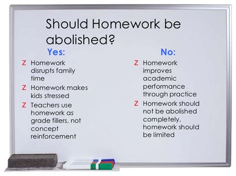 Essay On Why There Should Be Less Homework by Reasons Why Homework Should Be Bann