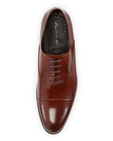 kenneth cole oxford shoes kenneth cole chief executive oxford shoe cognac in brown