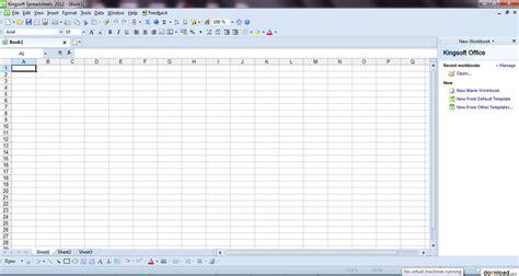 Windows 7 Spreadsheet by Kingsoft Spreadsheets Free Arkusze Kalkulacyjne