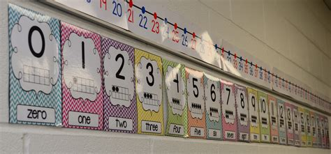 printable number line for display back to school nesting the neat and tidy classroom