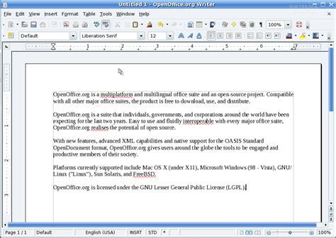 Open Office by Apache Openoffice Linux Softpedia Linux