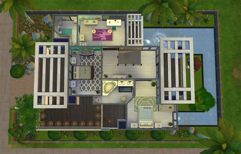 Small House Floorplan by Download Modern Charm Sims Online