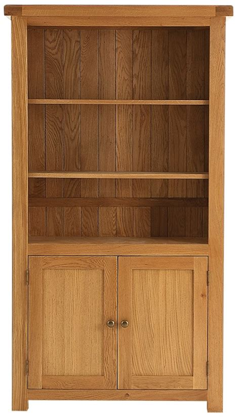 Rustic Bookcase With Doors Bookcases Oldbury Large Rustic Oak Bookcase With 2 Doorsoldbury Large Rustic Oak Bookcase With