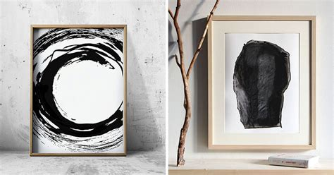 black and white painting ideas wall art ideas 14 ideas for black and white abstract