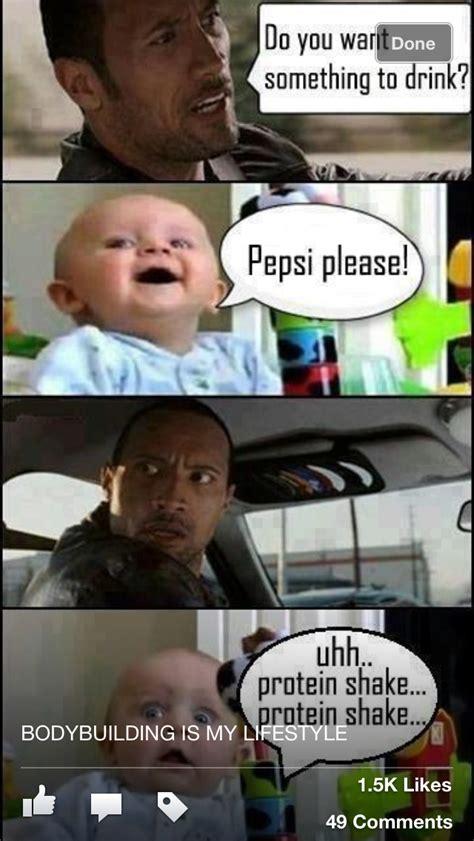 Protein Memes - the rock pepsi vs protein shake funny biz pinterest