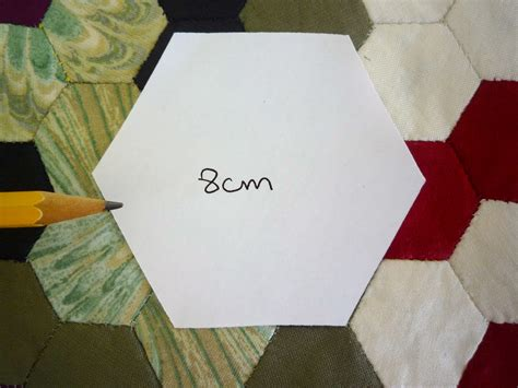 Paper Hexagon Templates For Patchwork - refill pack 500 x 8cm hexagon patchwork paper templates