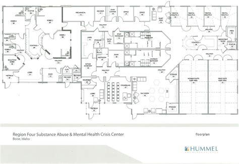drug rehabilitation center floor plan development