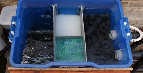 diy pond filter inexpensive  easy  build home