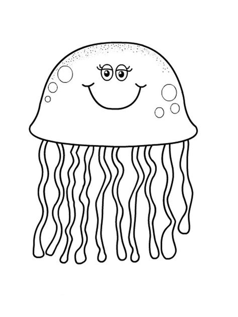Pretty Eyes Jellyfish Coloring Page Download Print Jelly Fish Coloring Pages