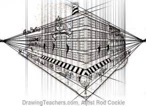 2 Point Perspective House Drawing Lesson by 2 Point Perspective Drawing Lesson