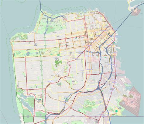 san francisco map picture images
