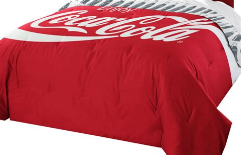 coca cola bedroom coca cola twin full comforter set coke logo bedding