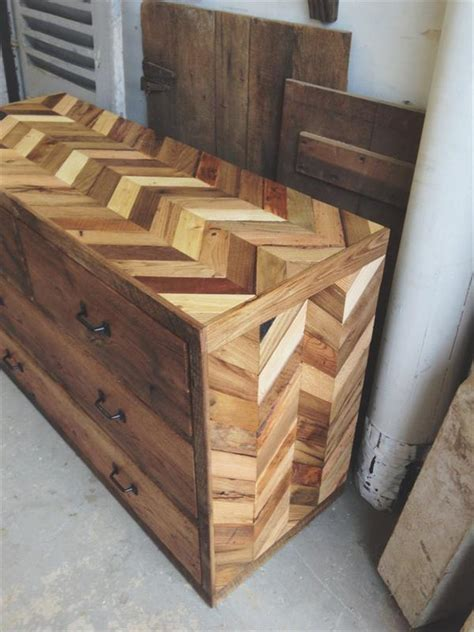 How To Make A Wooden Dresser by Rustic Dresser Made From Pallets Pallet Furniture Diy