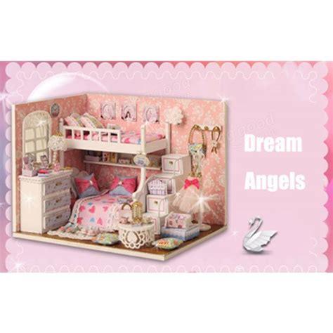 5 room dollhouse furniture cuteroom diy wood dollhouse kit miniature with furniture
