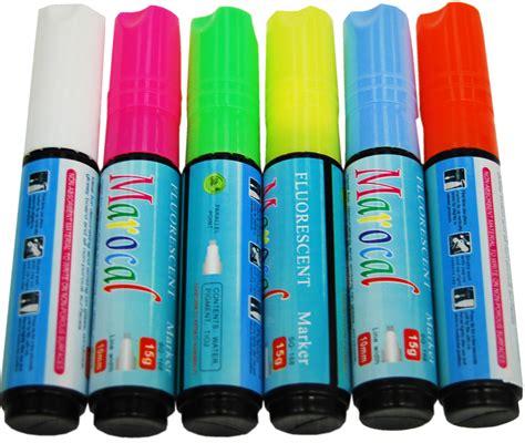Fluorescent Marker 6 pcs highlighter fluorescent liquid chalk marker pen for