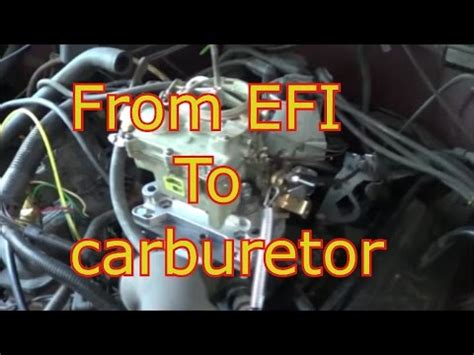 changing  fuel injection  carburetor chevy truck