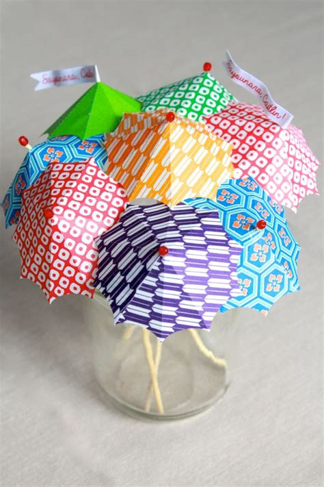 How To Make Paper Umbrella For Drinks - diy cocktail umbrellas alyssa and carla
