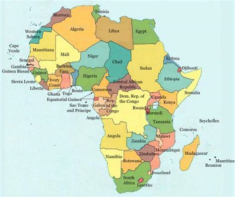 africa map 55 countries jspivey jhn