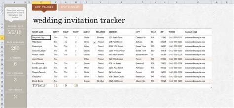 Wedding Planner Guest List by 7 Free Wedding Guest List Templates And Managers