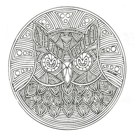 mandala coloring pages owl free coloring pages of mandalas owl