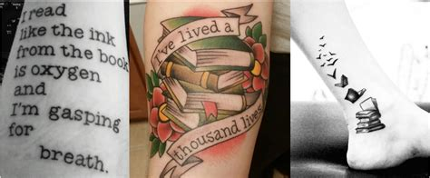 book tattoos bookishly