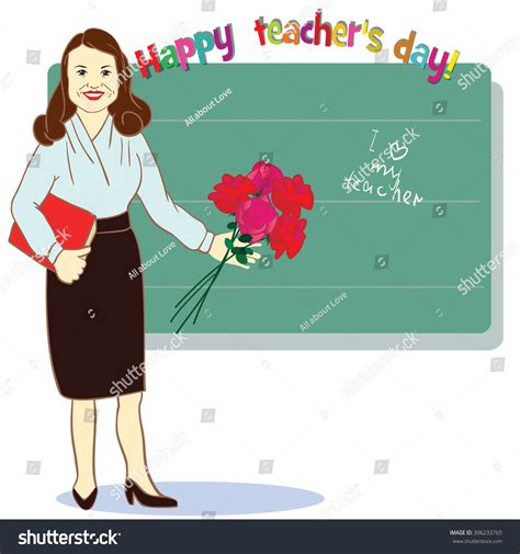 Happy Teachers Day Card Template by Happy Day Template Card Vector Stock Vector