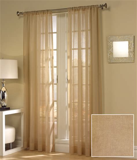 tan curtains set of two maytex window curtains