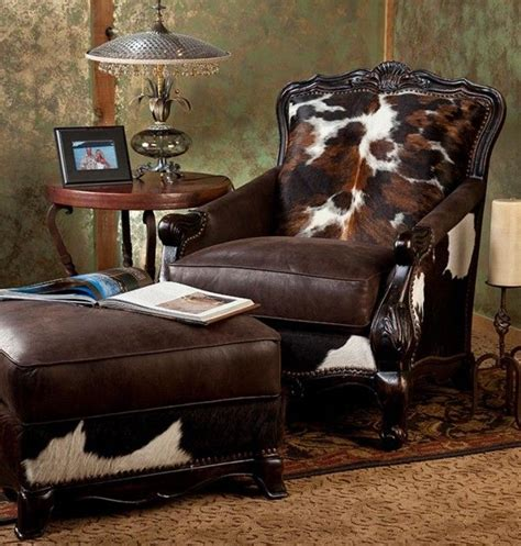 cowhide chair and ottoman best 25 cowhide chair ideas on western
