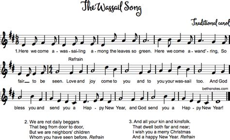 wassail song beths notes