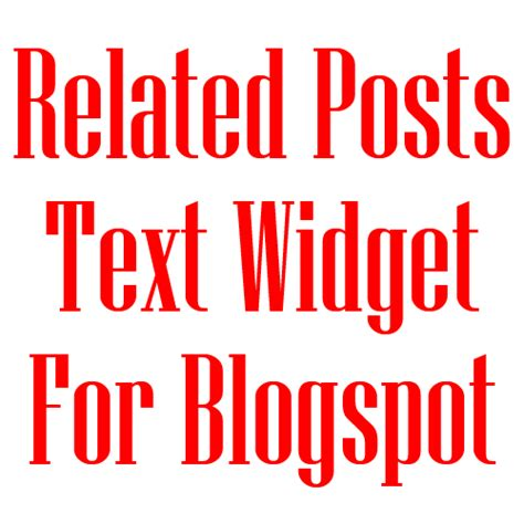 related posts simple and stylish related posts text widget for