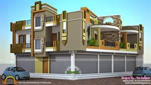 The House Shop 2 House Plans With Shops On Ground Floor Kerala Home