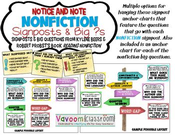 reading nonfiction notice note stances signposts and strategies notice and note nonfiction signpost signs by vavoom