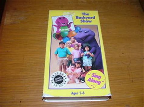 barney the backyard show vhs barney the backyard show vhs 1992 ebay