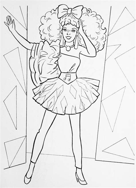 1986 Barbie and the Rockers Diva Fashion Illustration