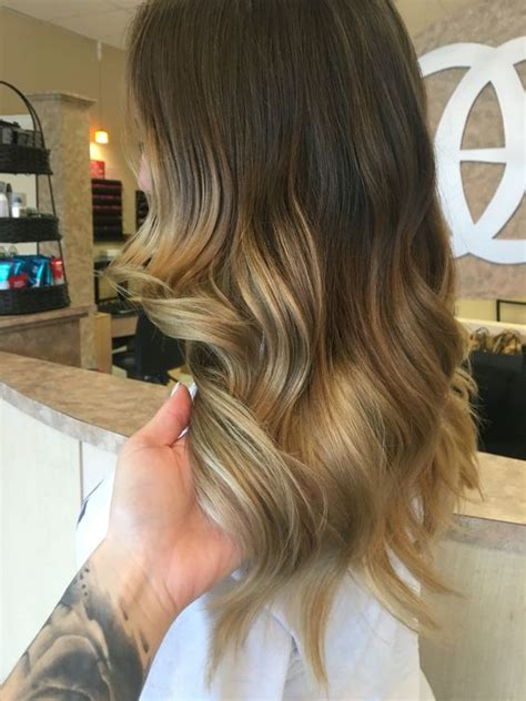 hairstyles dark roots blonde tips ombr 233 hair long dark roots brunette blonde tips golden ash