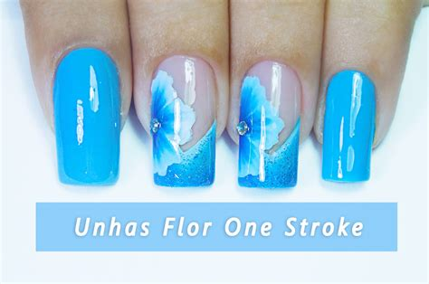 tutorial nail art one stroke tutorial flor one stroke passo a passo unhas decoradas