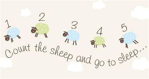 Counting sheep blue canvas wall art